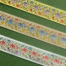 Load image into Gallery viewer, Vintage Ribbon by the Roll - Petite Shaded Roses Ribbon Trim