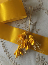 Load image into Gallery viewer, Vintage Ribbon by the Roll - Georgian Yellow Silk Satin Ribbon