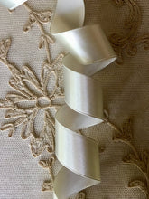 Load image into Gallery viewer, Vintage Ribbon By the Roll Blue/Grey Silk Satin
