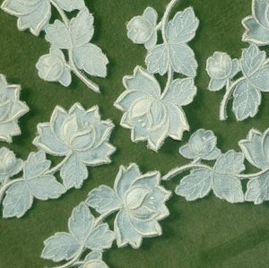 Vintage Swiss Embroidered Satin Appliqués