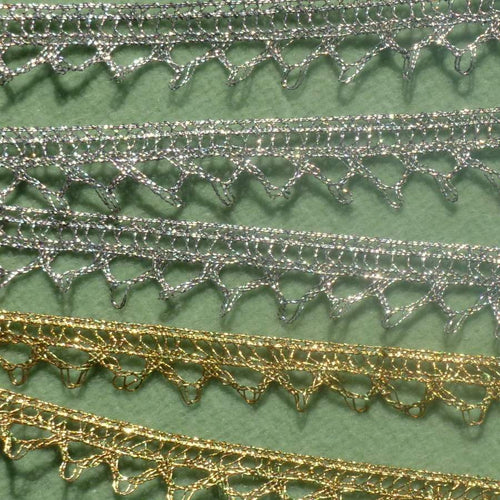 Antique French Silver and Gold Metal Lace