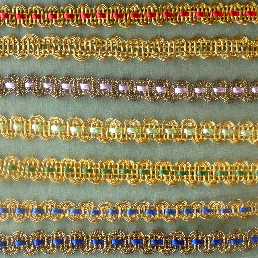 Antique French Gold Metal & Floss Trim