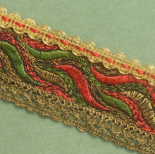 Load image into Gallery viewer, Antique French Gold Metal Abstract Ribbon Trim