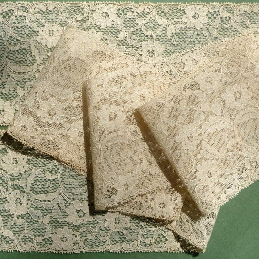 Antique French Alencon Patterned Lace
