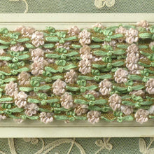 Load image into Gallery viewer, Antique French Rococo Pink Floss & Gold Metal Trim      12 Inches