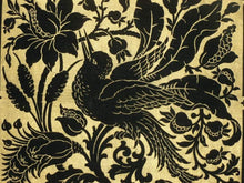 Load image into Gallery viewer, Circa 1920/30's Gold Stenciled Velveteen Pillow Tops