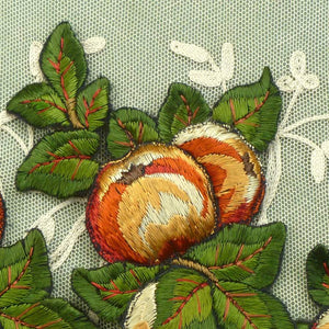 Antique Embroidered Fruit Appliqués