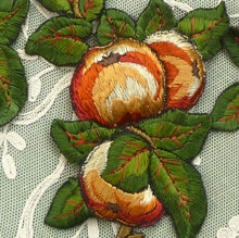Load image into Gallery viewer, Antique Embroidered Fruit Appliqués