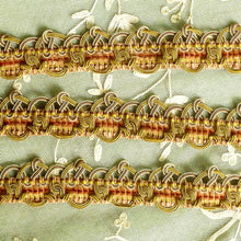 Load image into Gallery viewer, Antique French Chenille & Silk Wrapped Cord Silver Wire Passementerie