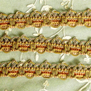 Antique French Chenille & Silk Wrapped Cord Silver Wire Passementerie