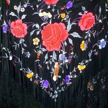 Load image into Gallery viewer, Circa 1920's Silk Embroidered Shawl