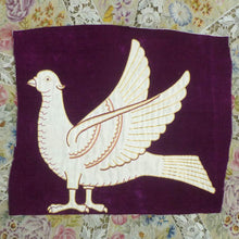 Load image into Gallery viewer, Antique Hand Embroidered Velveteen Doves
