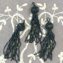 Load image into Gallery viewer, Vintage Bugle Beaded Tassels