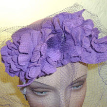 Load image into Gallery viewer, Vintage Lavender Felt Tilt Top