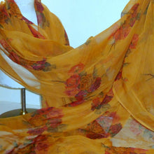 Load image into Gallery viewer, Amber Silk Chiffon Yardage