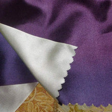 Load image into Gallery viewer, Vintage Royal Purple/Violet & Silver Satin Ribbon Double Sided