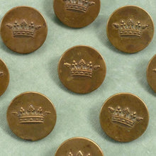 Load image into Gallery viewer, Antique Crown of a Marquis Embossed French Buttons.