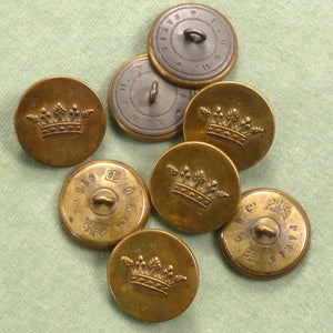 Antique Crown of a Marquis Embossed French Buttons.