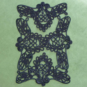 Hand Sewn French Silky Cord Appliques