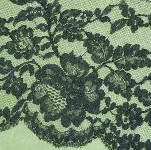 Vintage French Chantilly Style Lace