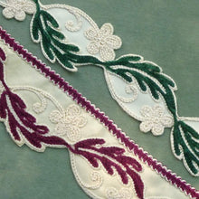 Load image into Gallery viewer, Circa 1940's Embroidered Chenille Trims