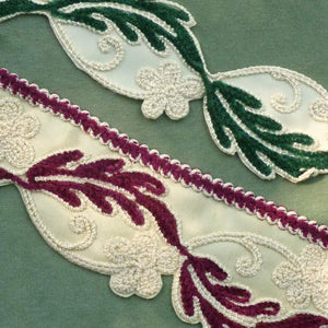 Circa 1940's Embroidered Chenille Trims