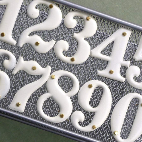 Vintage/Retro Aluminum Numbers 1 through 10