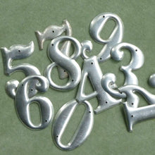 Load image into Gallery viewer, Vintage/Retro Aluminum Numbers 1 through 10