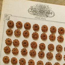 Load image into Gallery viewer, Antique Copper Metal Button Embellishments