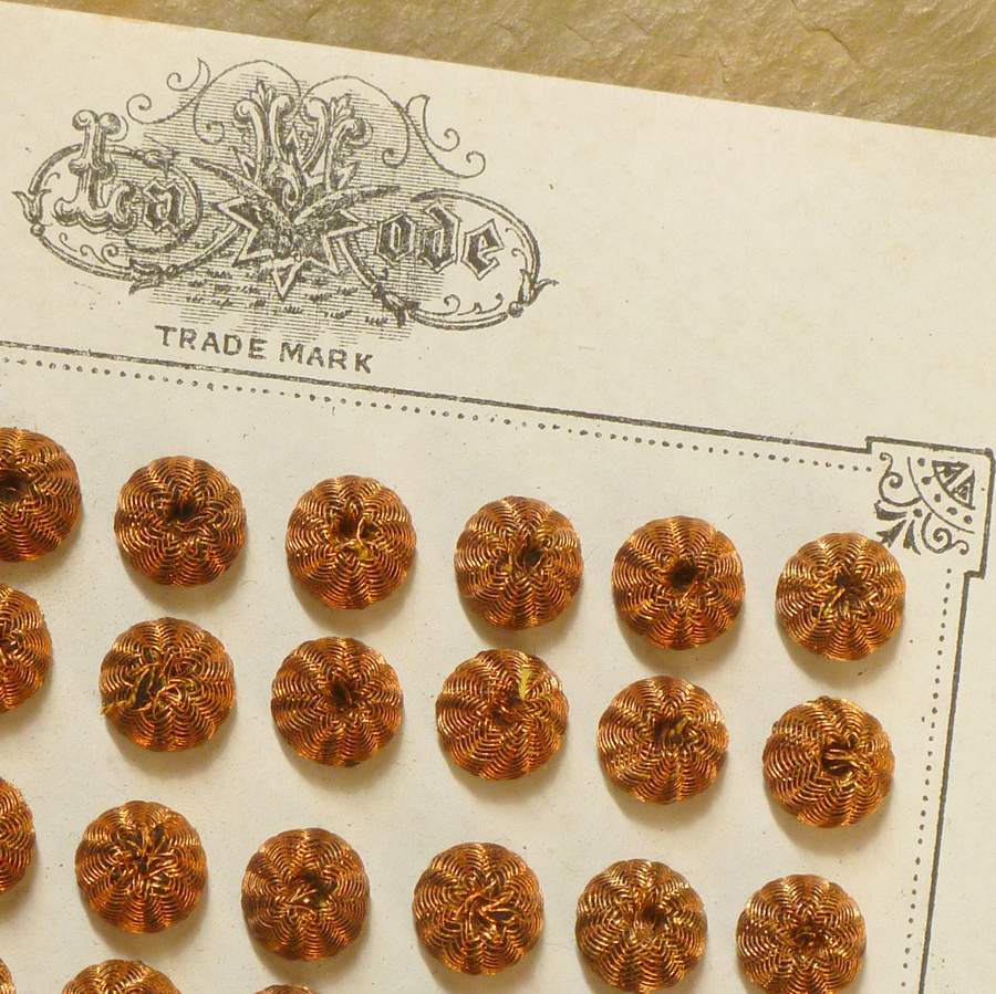 Antique Copper Metal Button Embellishments