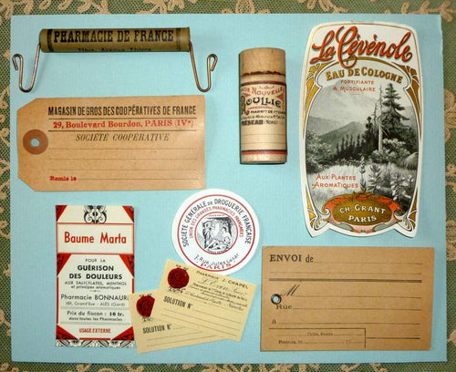 Antique French Pharmacy Collection