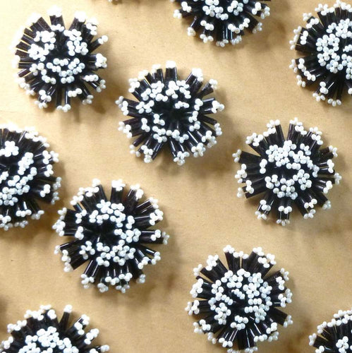 Antique Hand Beaded Button Embellishments