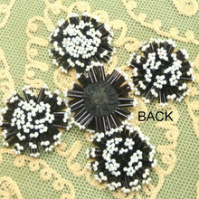 Load image into Gallery viewer, Antique Hand Beaded Button Embellishments