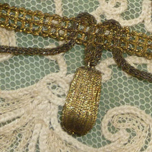 Load image into Gallery viewer, Antique Gold/Bronze Metal Bobble Embellished Trim