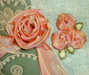 Apricot/Peach French Ombre Ribbon