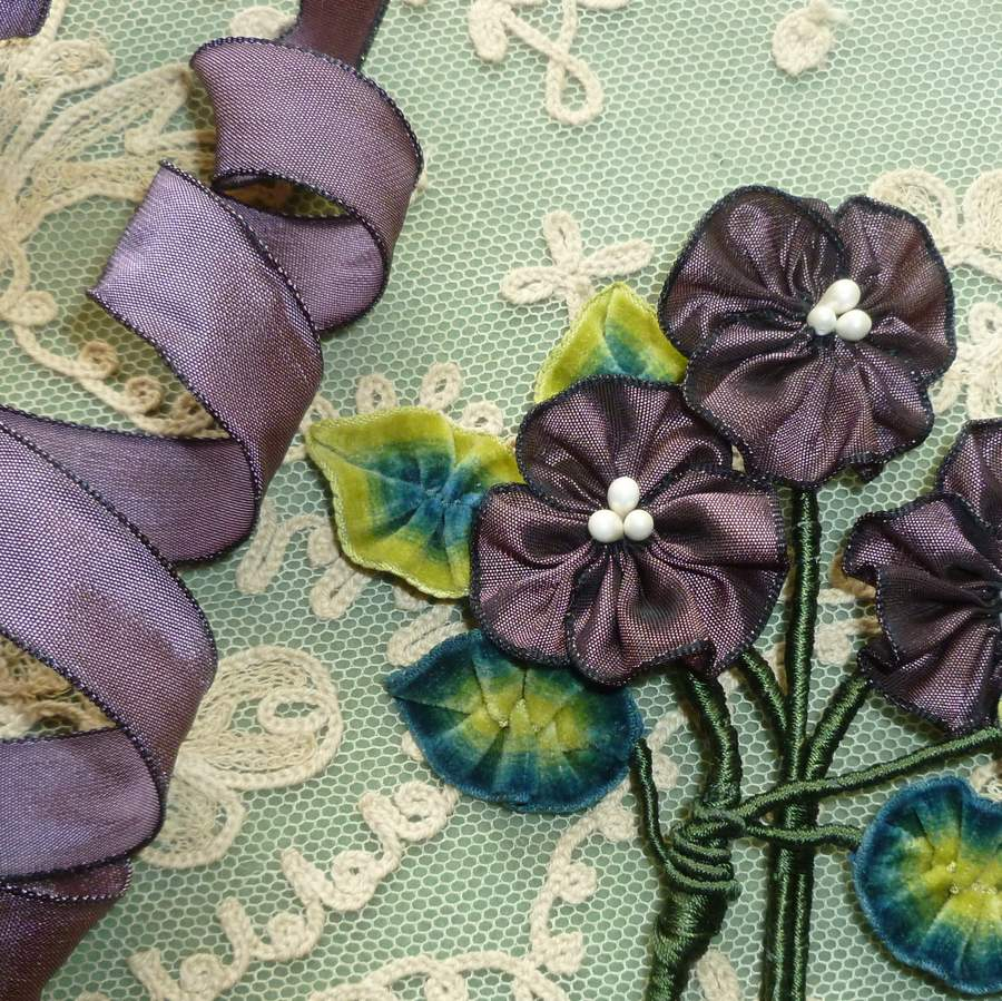French Violet Wired Ribbon