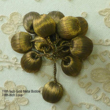 Load image into Gallery viewer, Antique Gold Metal Bobbles