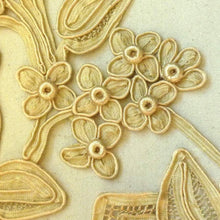 Load image into Gallery viewer, Antique Hand Made Silk Applique