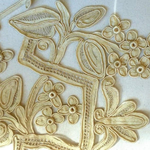 Antique Hand Made Silk Applique