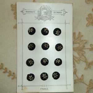 Antique French Hand Embroidered Buttons.