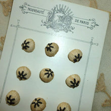 Load image into Gallery viewer, Antique French Hand Embroidered Buttons.