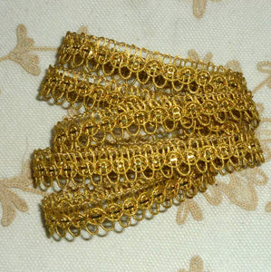 Antique Gold METAL Trim with Loops