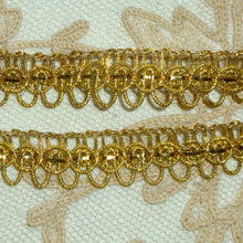 Load image into Gallery viewer, Antique Gold METAL Trim with Loops