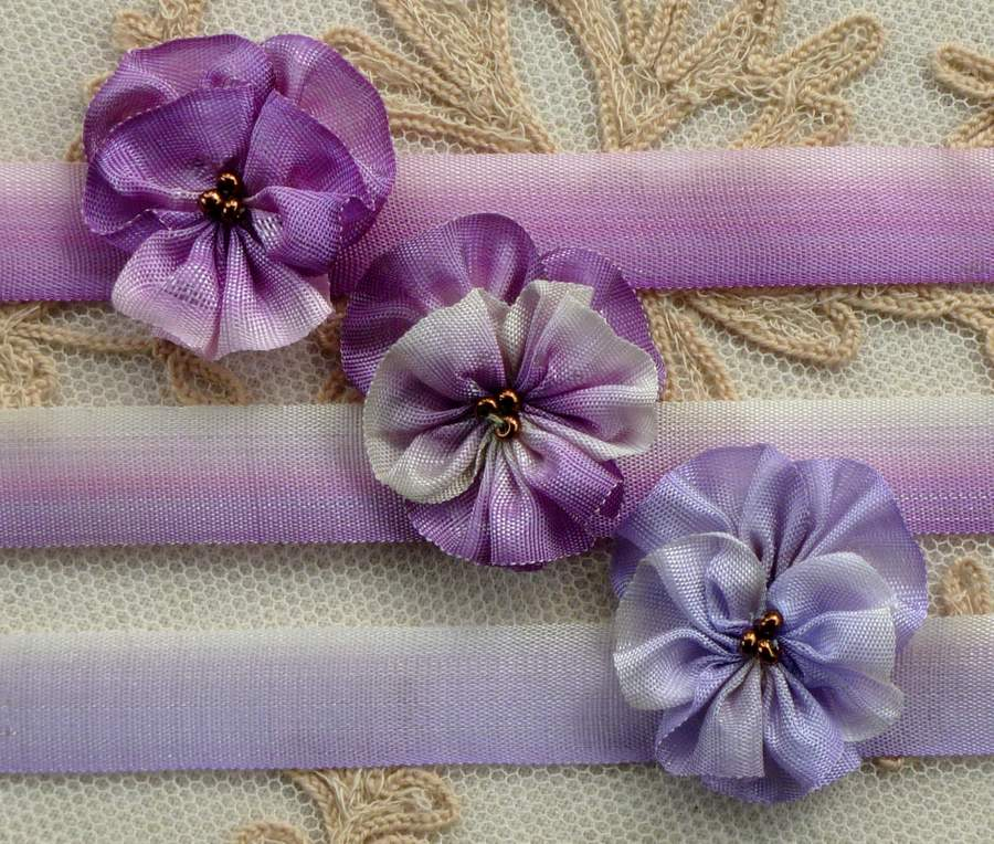 Antique French Woven Ombre Ribbons 1/2 Inch Width