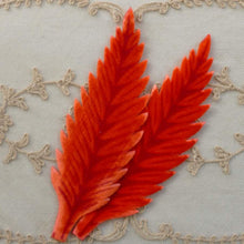 Load image into Gallery viewer, Vintage Velveteen Leaf Appliqués