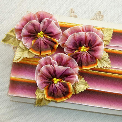 Vintage French Ombre Ribbon For Pansies