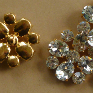 Large Oval and Round Shape Rhinestone Buttons