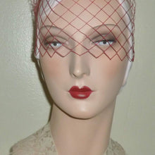 Load image into Gallery viewer, Vintage Hot Pink Veiling