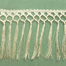 Load image into Gallery viewer, Antique Hand Tied Knotted Fringe for Textiles