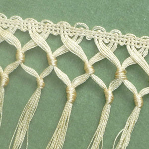 Antique Hand Tied Knotted Fringe for Textiles